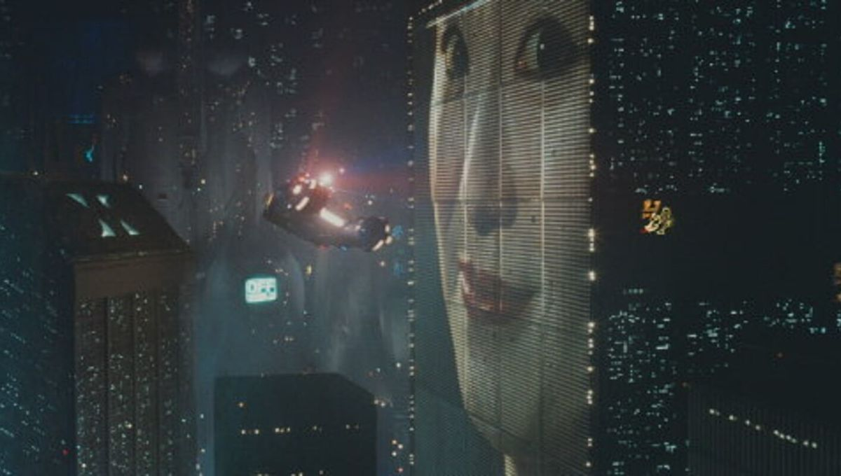 Los Angeles from above in Blade Runner