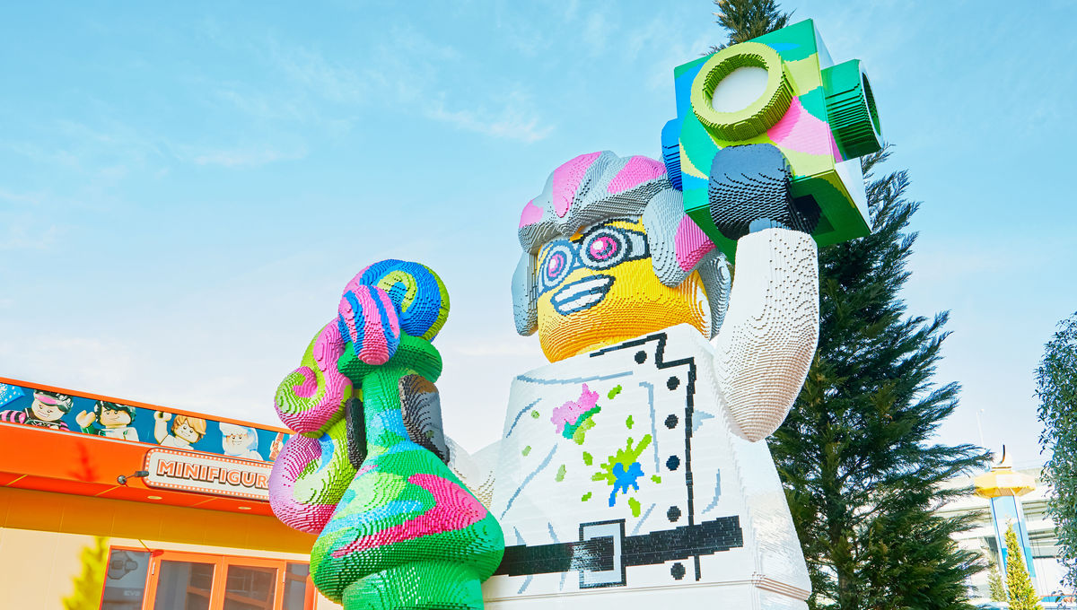 A larger-than-life LEGO figure