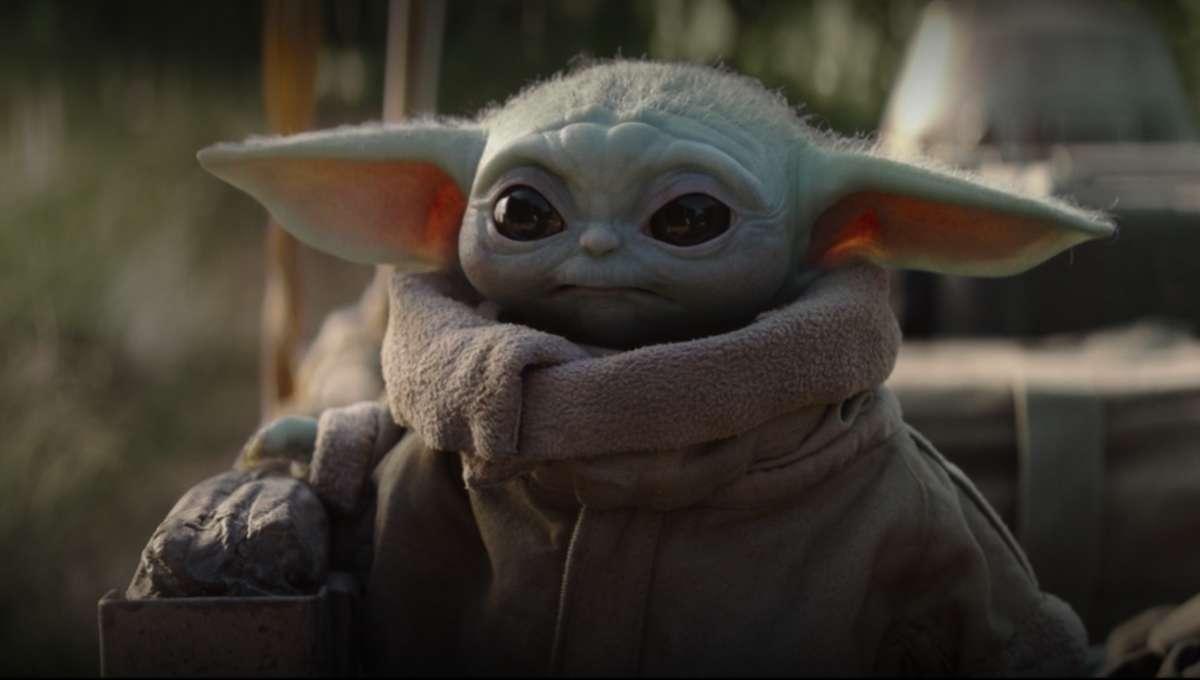 Baby Yoda riding