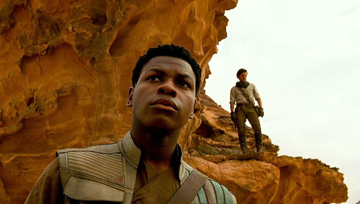 Finn and Poe in Star Wars The Rise of Skywalker