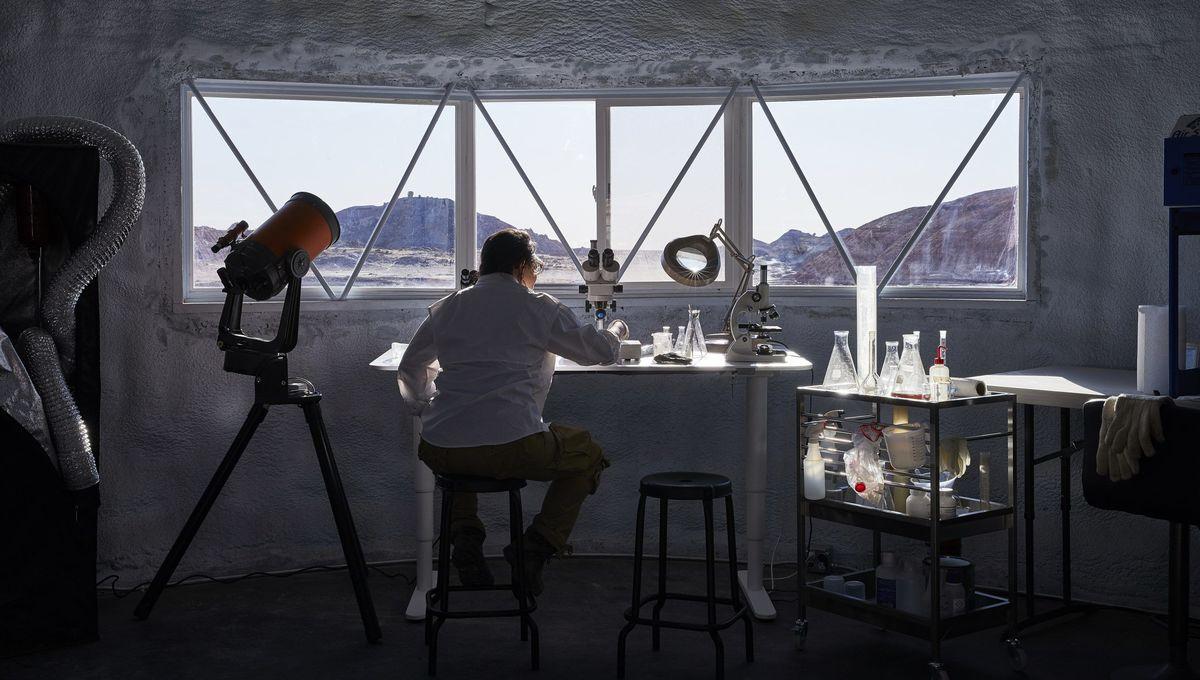 IKEA furnishings inside the Mars Desert Research Station