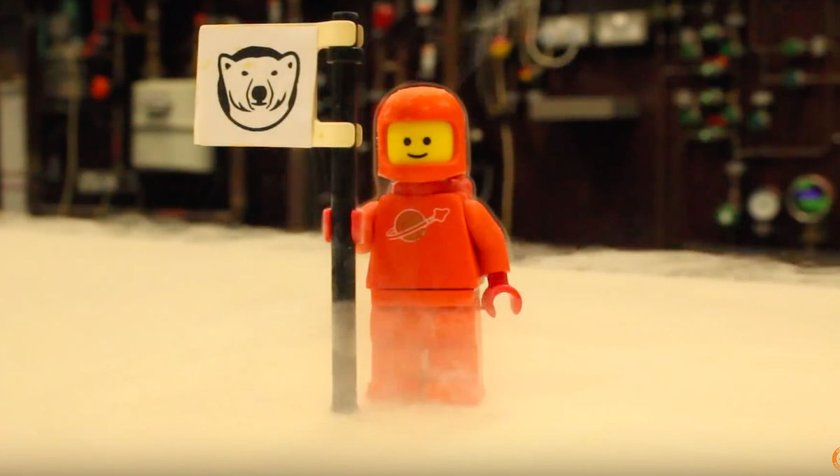 LEGO figure at absolute zero