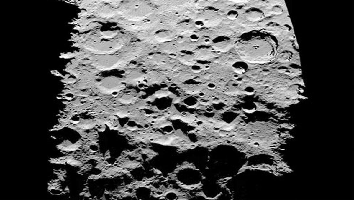 NASA image of the lunar south pole