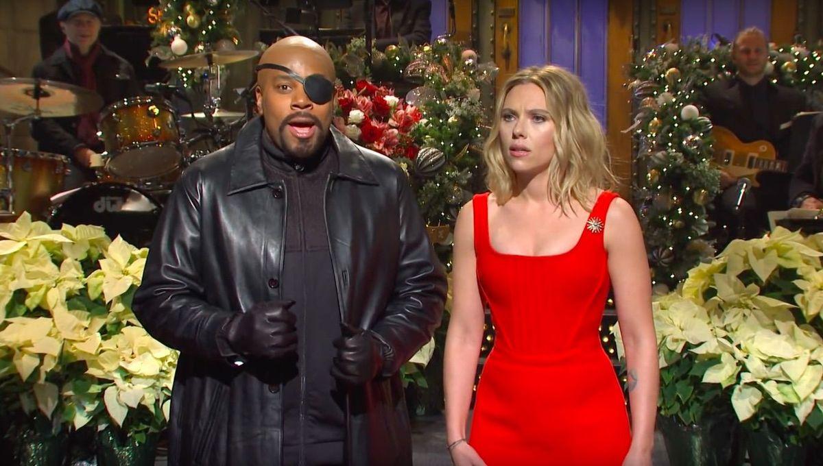 SNL Scarlett Johansson Kenan Thompson