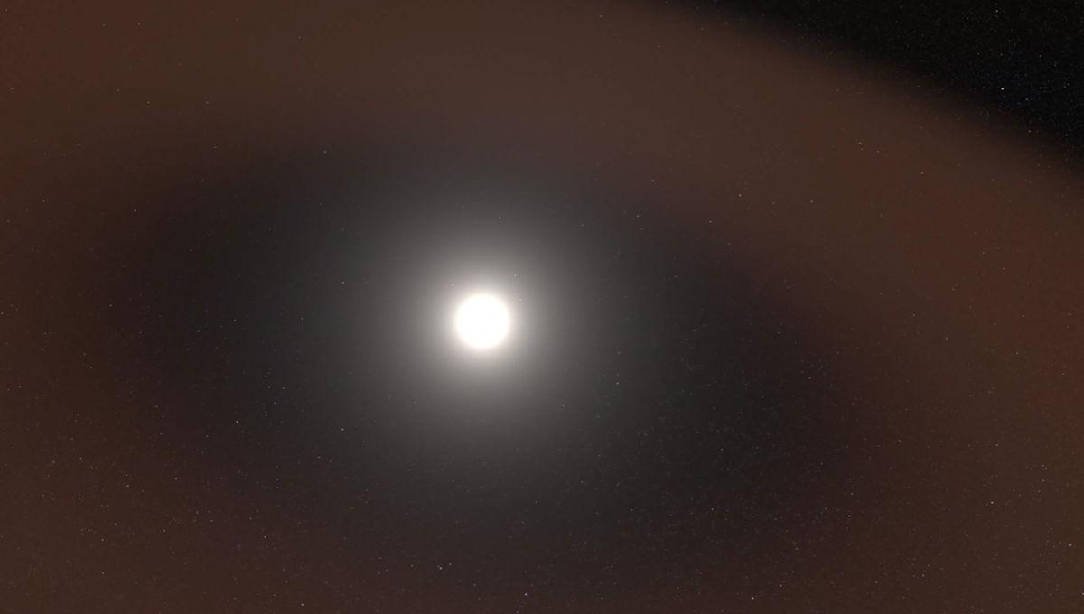 NASA image of dust around the sun