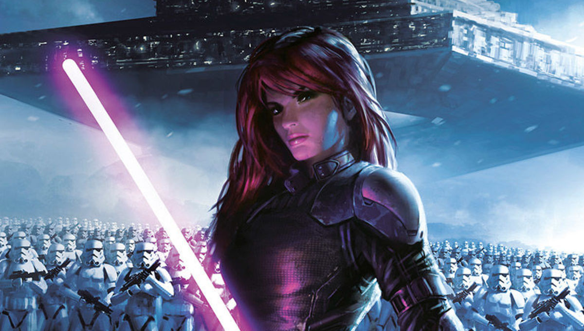 Star Wars - Mara Jade with lightsaber