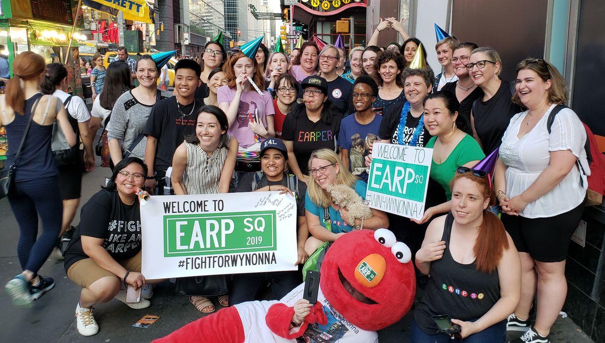 Wynonna Earp fans in Times Square