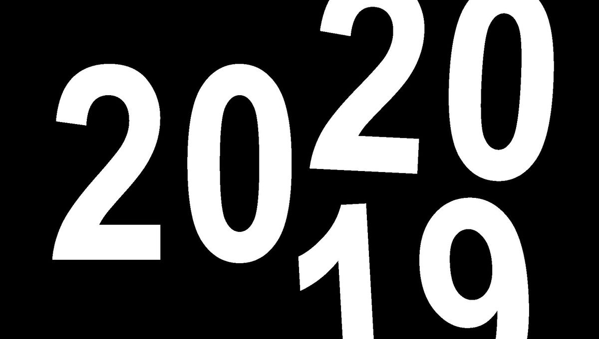 calendar rolling over from 2019 to 2020