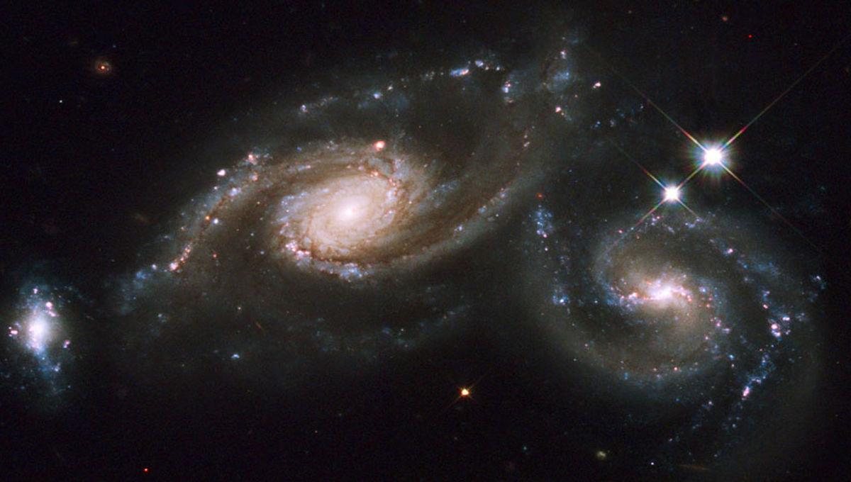 NASA image of a galactic merger