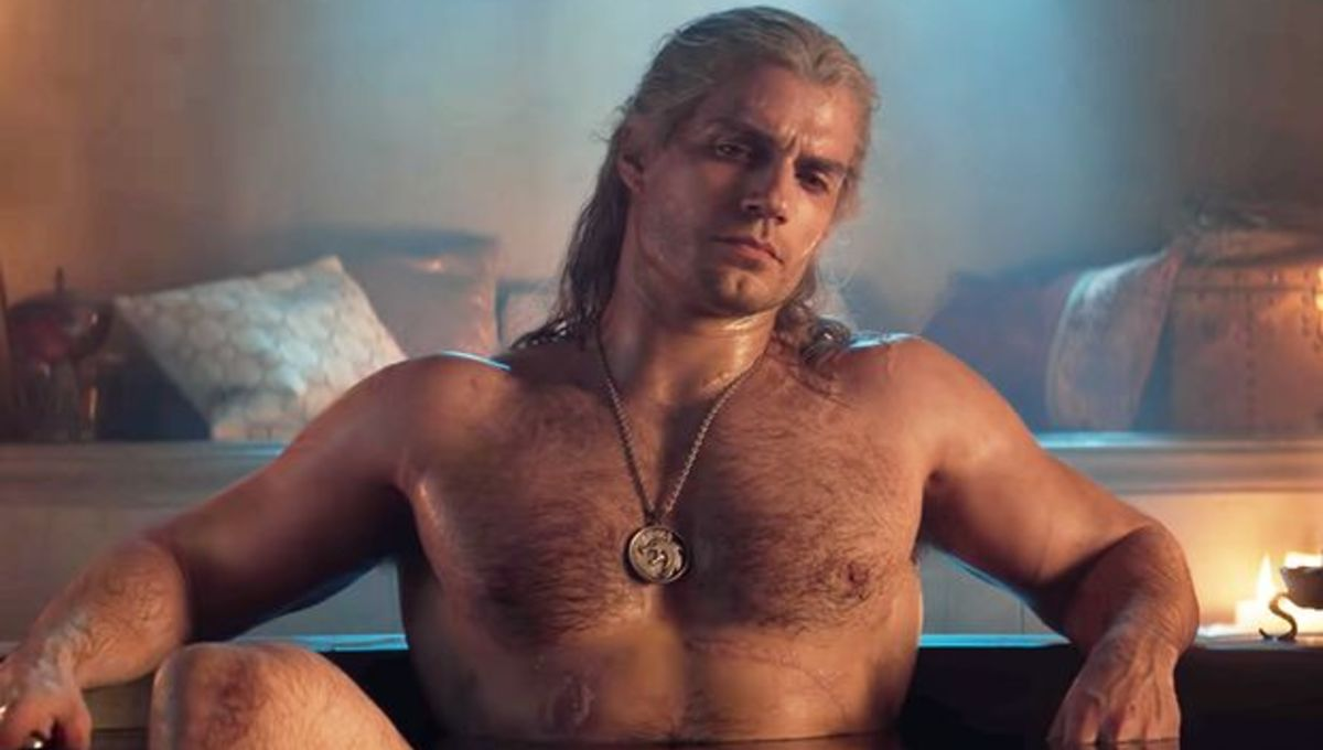 Henry Cavill Geralt bath The Witcher