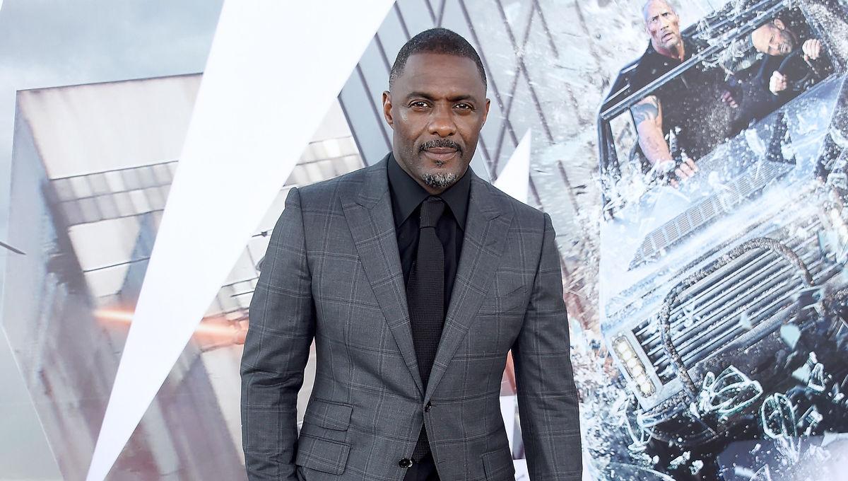 Idris Elba at Hobbes and Shaw premiere