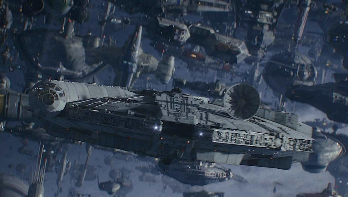 Millennium Falcon in The Rise of Skywalker