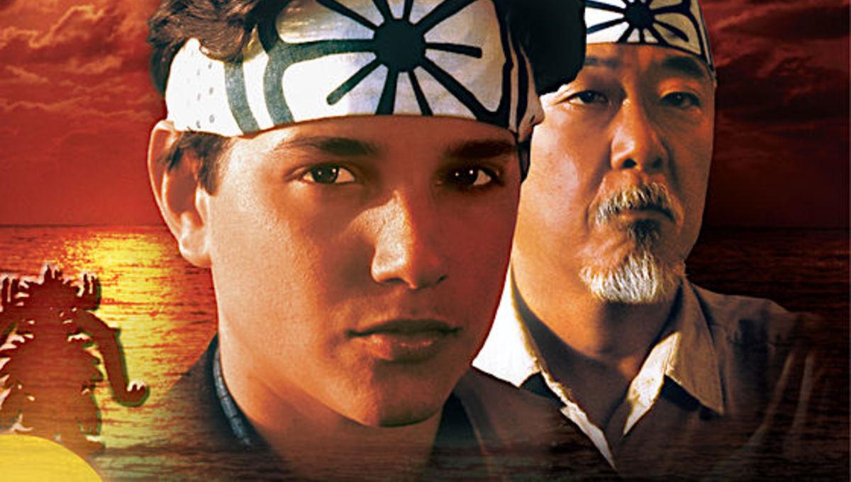 Ralph Macchio and Pat Morita in The Karate Kid
