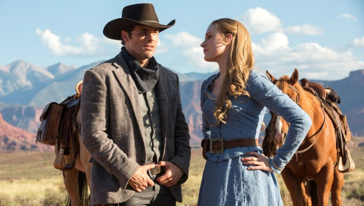 Teddy and Dolores in HBO's Westworld