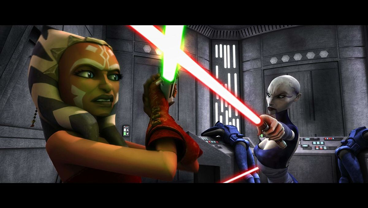 Ahsoka and Ventress in Star Wars The Clone Wars