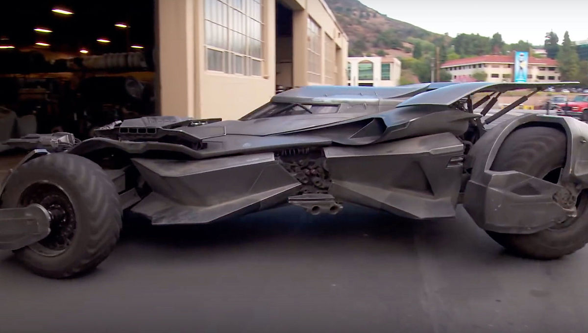 The Batmobile used in Batman v Superman Dawn of Justice