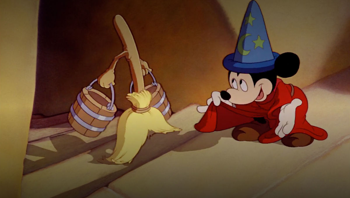 Mickey and the broom in Fantasia
