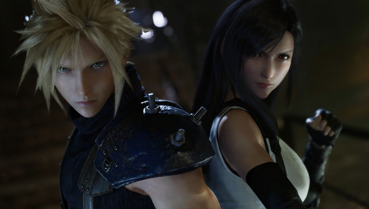 Cloud and Tifa in Final Fantasy VII Remake