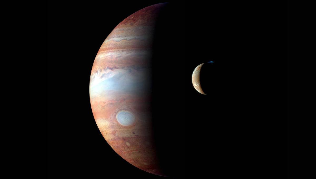 NASA image of Jupiter and Io