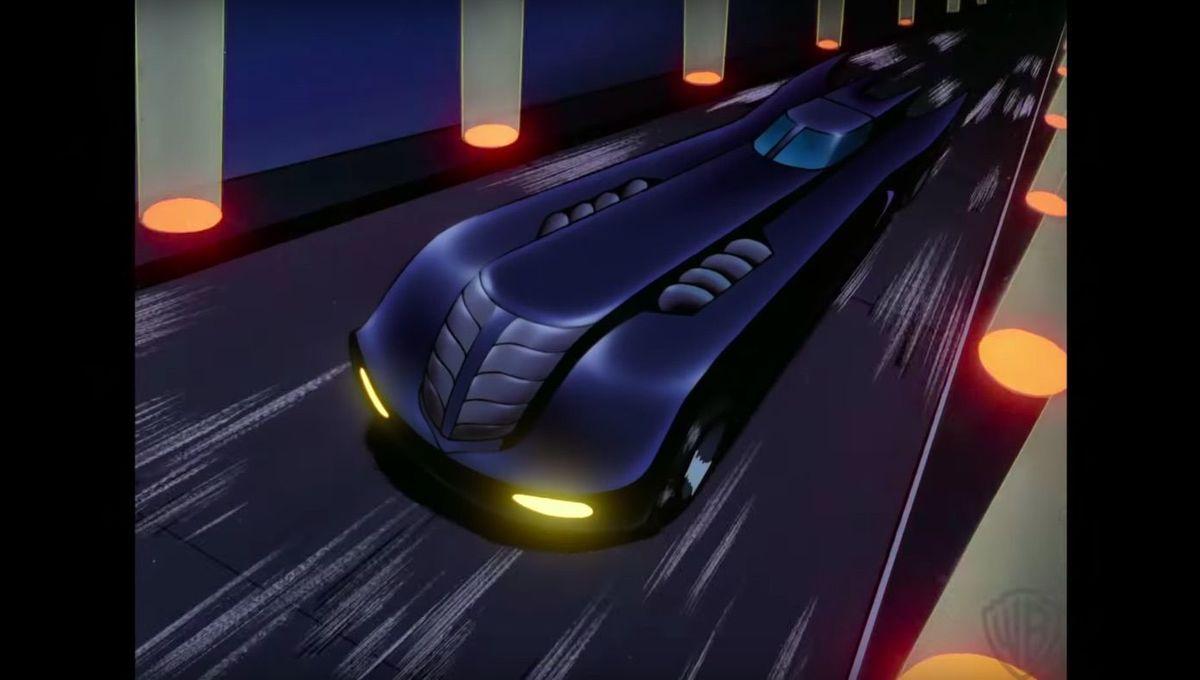 Black Batman Animated Series Batmobile Car