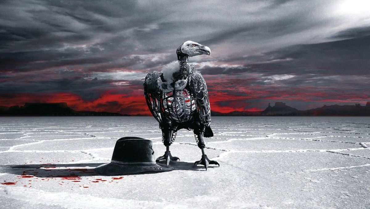 A dystopian landscape from HBO series Westworld