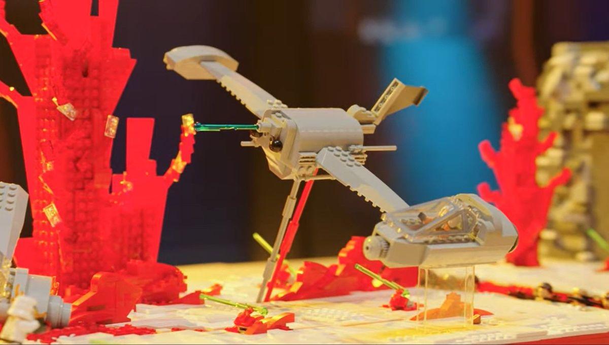 Battle of Crait Lego Masters