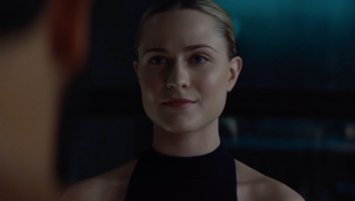 Evan Rachel Wood as Dolores in Westworld