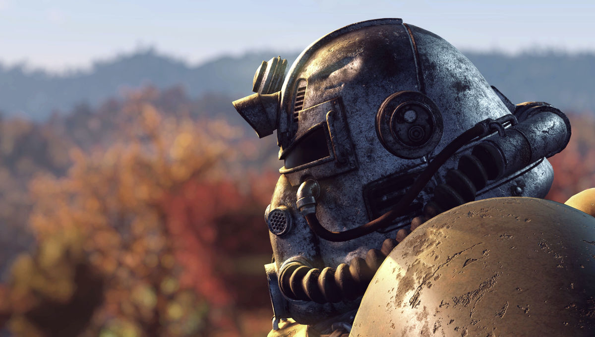 A Fallout 76 character in Power Armor
