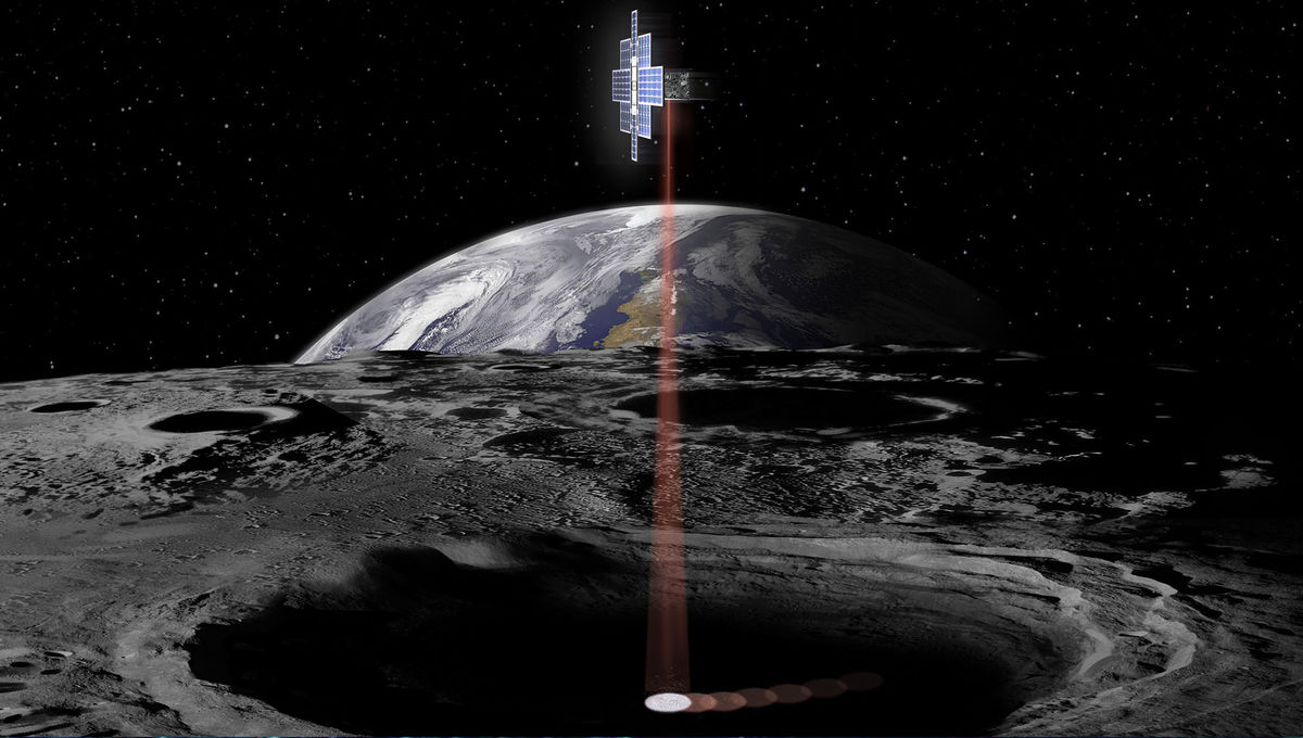NASA image of its Lunar Flashlight mission