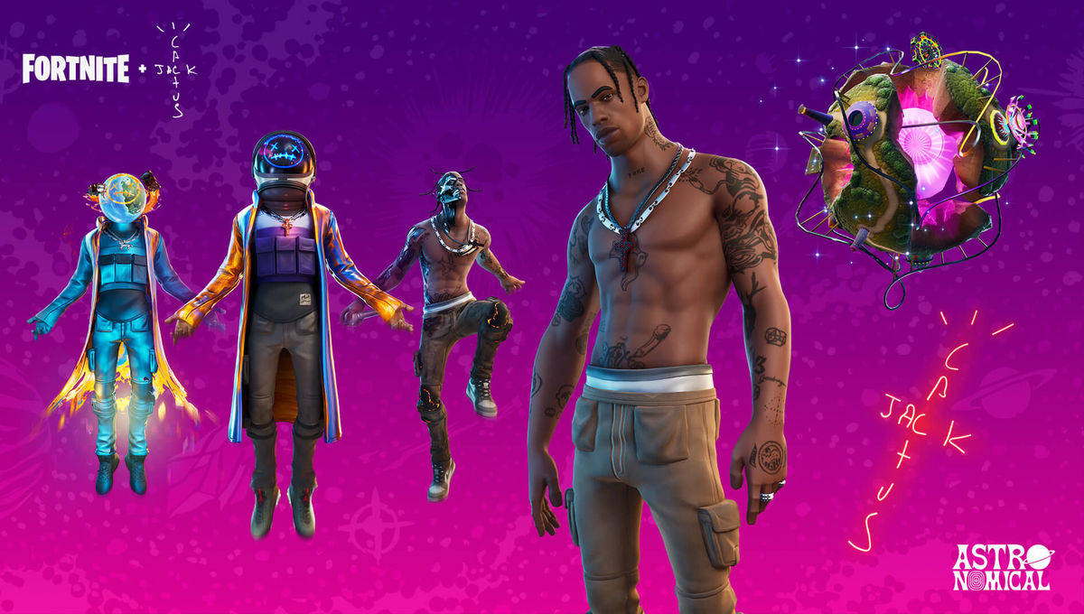 Fortnite Travis Scott concert banner
