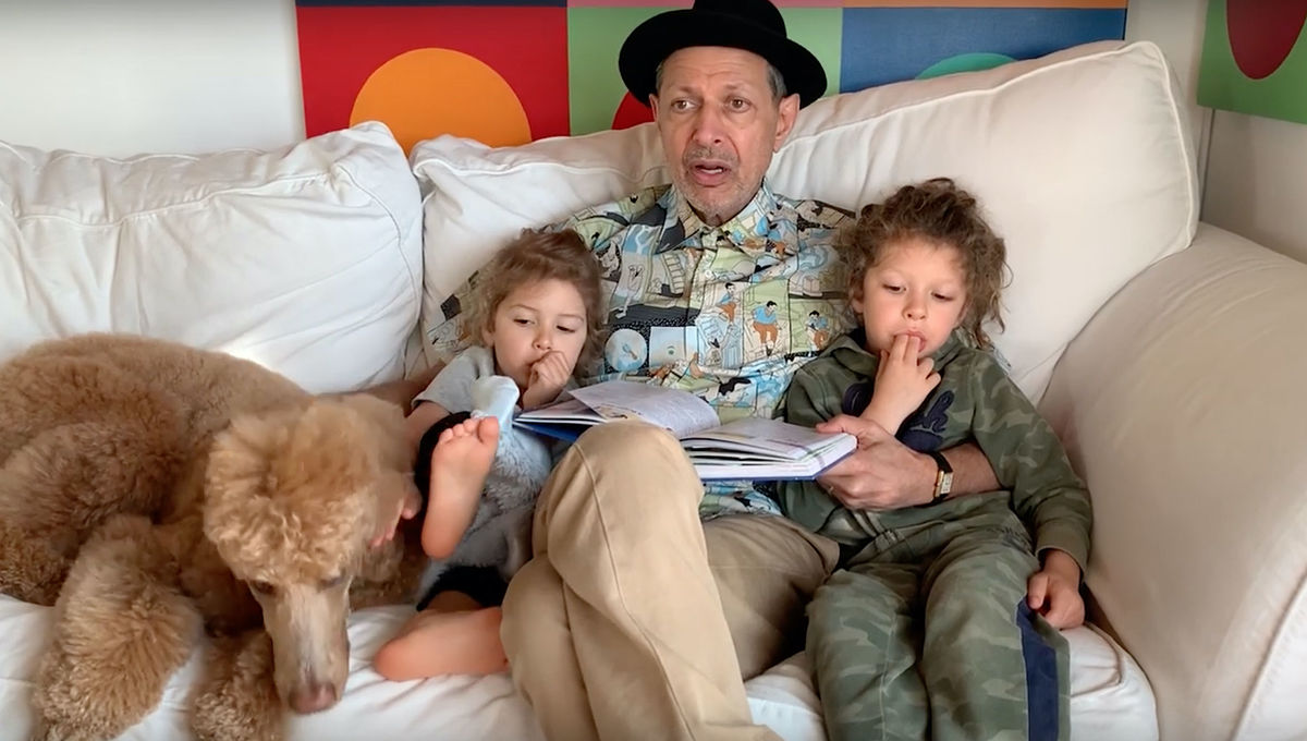 Jeff Goldblum reads Pinocchio at home