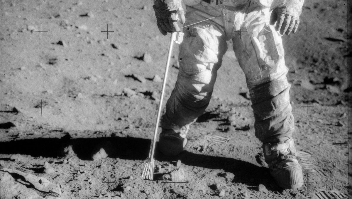 NASA image of an astronaut on the Moon