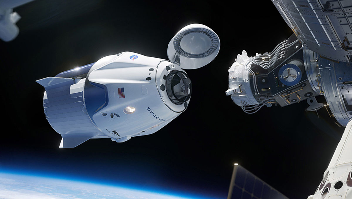SpaceX Crew Dragon capsule artist rendering