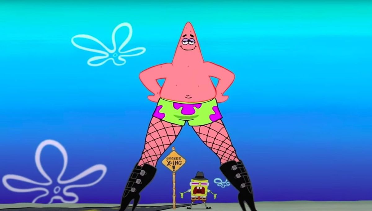 SpongeBob movie Patrick legs