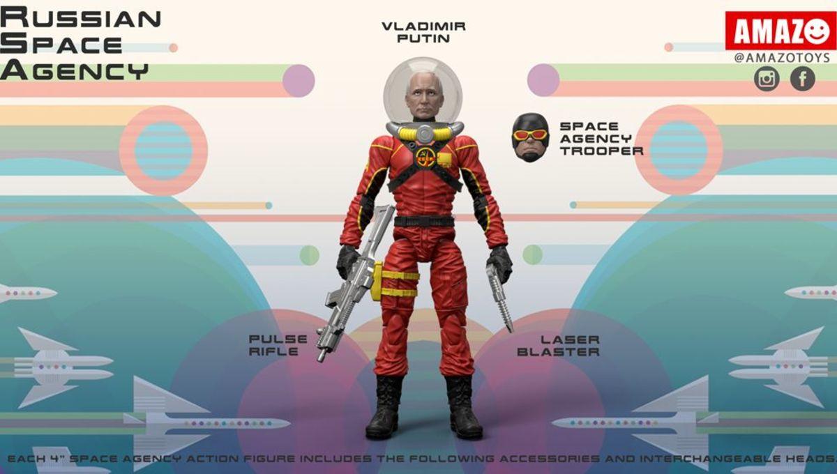 Vladimir Putin Space Force Figures