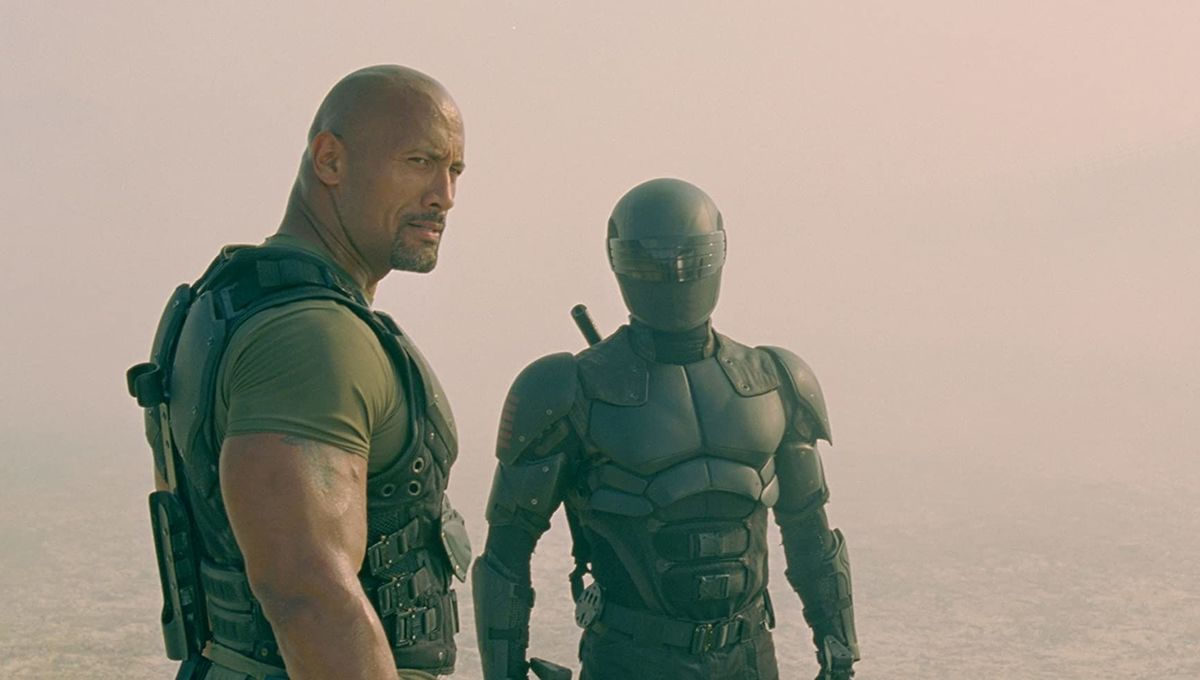 Dwayne Johnson and Ray Park in G.I. Joe: Retaliation