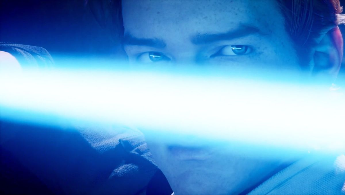 Cal Kestis and lightsaber in Star Wars Jedi Fallen Order