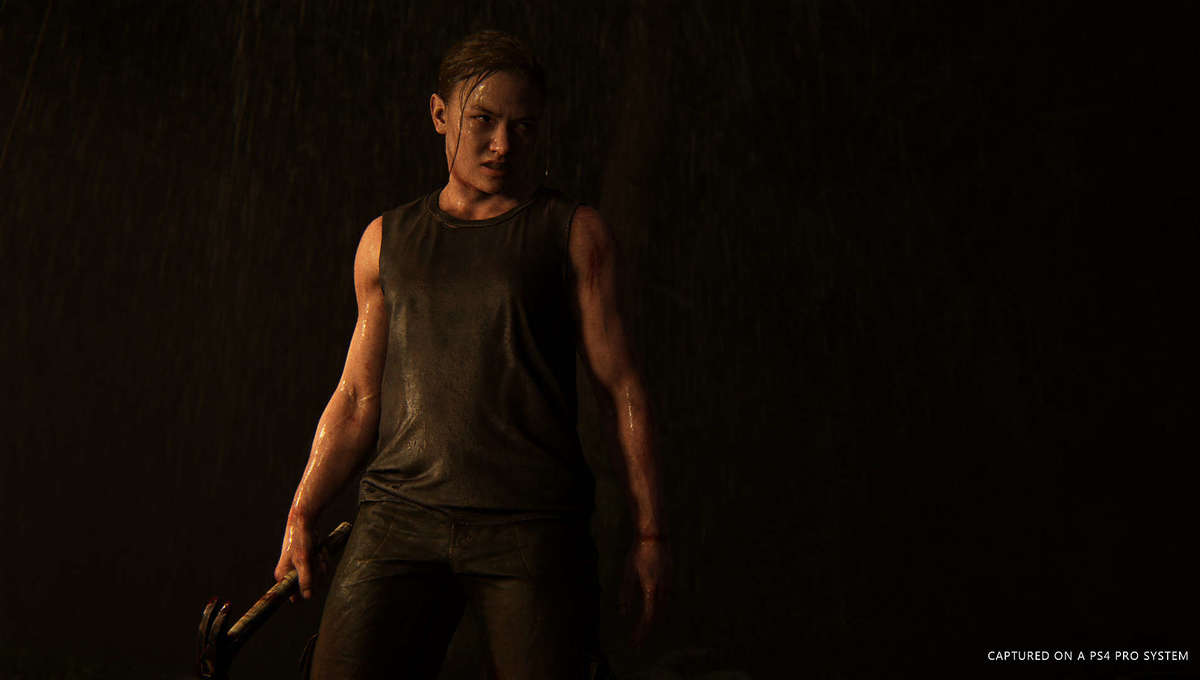 Ellie wields a hammer in The Last of Us Part II