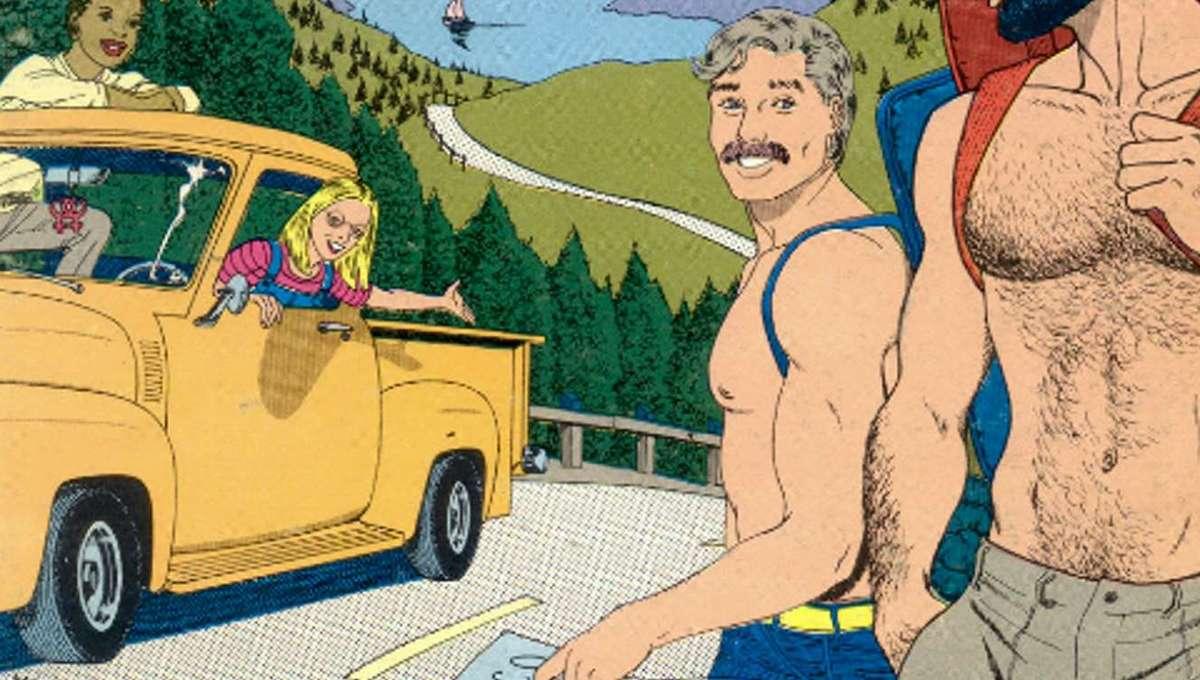Gay Comix #3, cover art by Burton Clarke