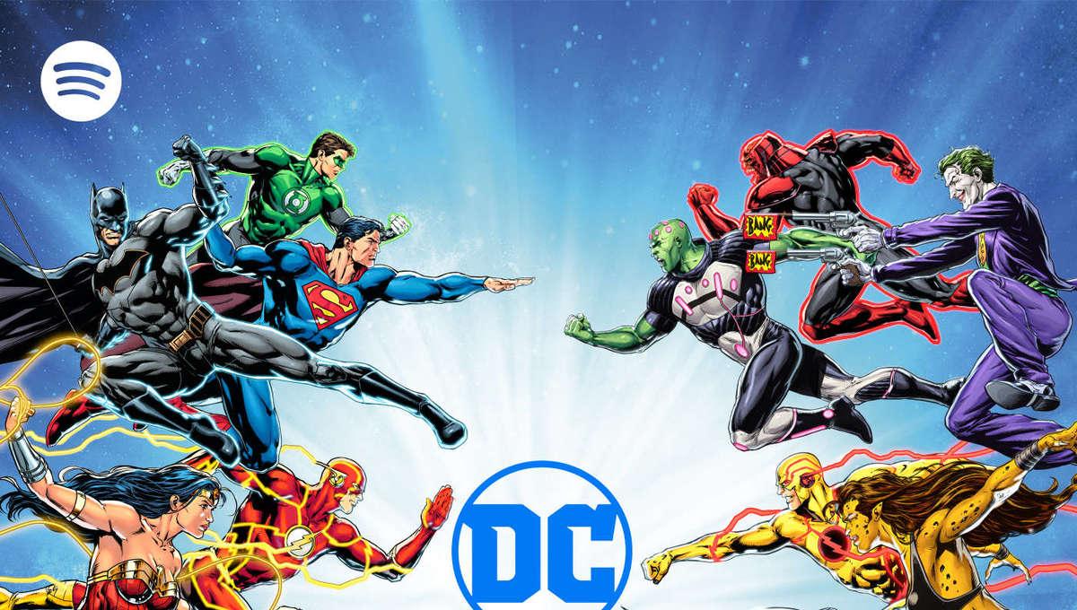 DC Spotify partnership logo