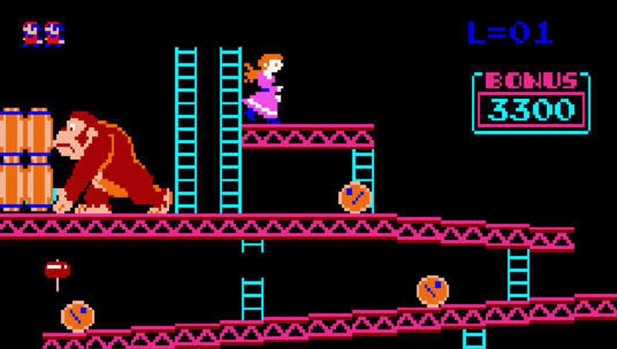 Donkey Kong original arcade game screen