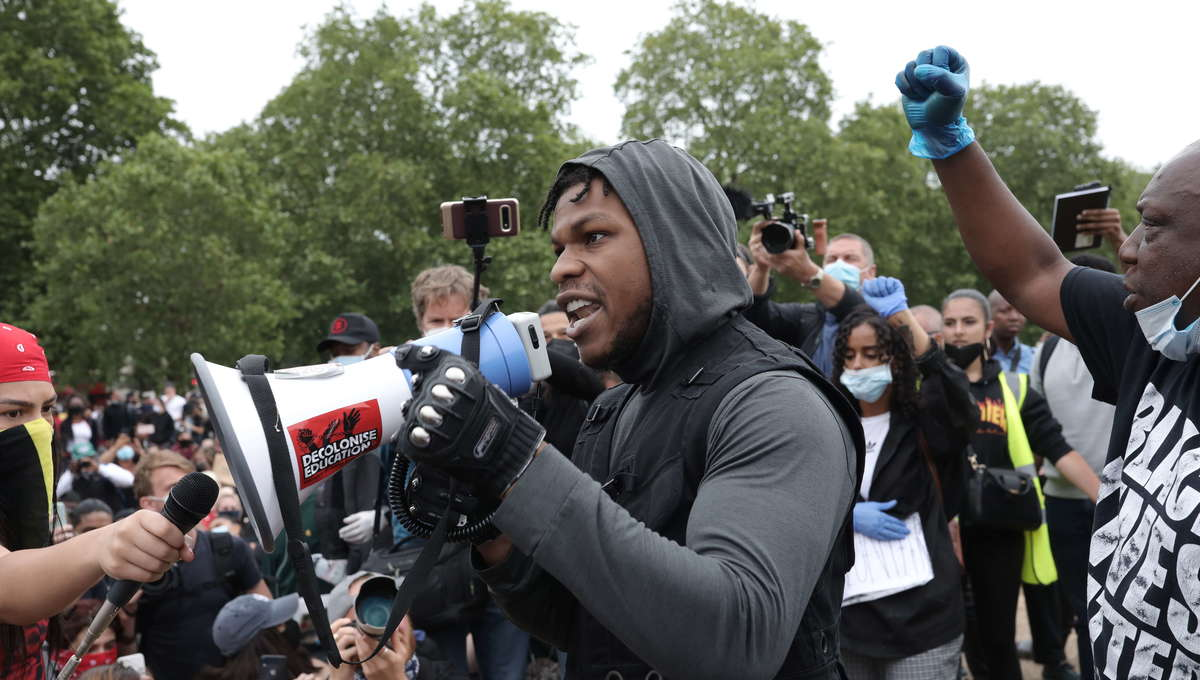 John Boyega protest
