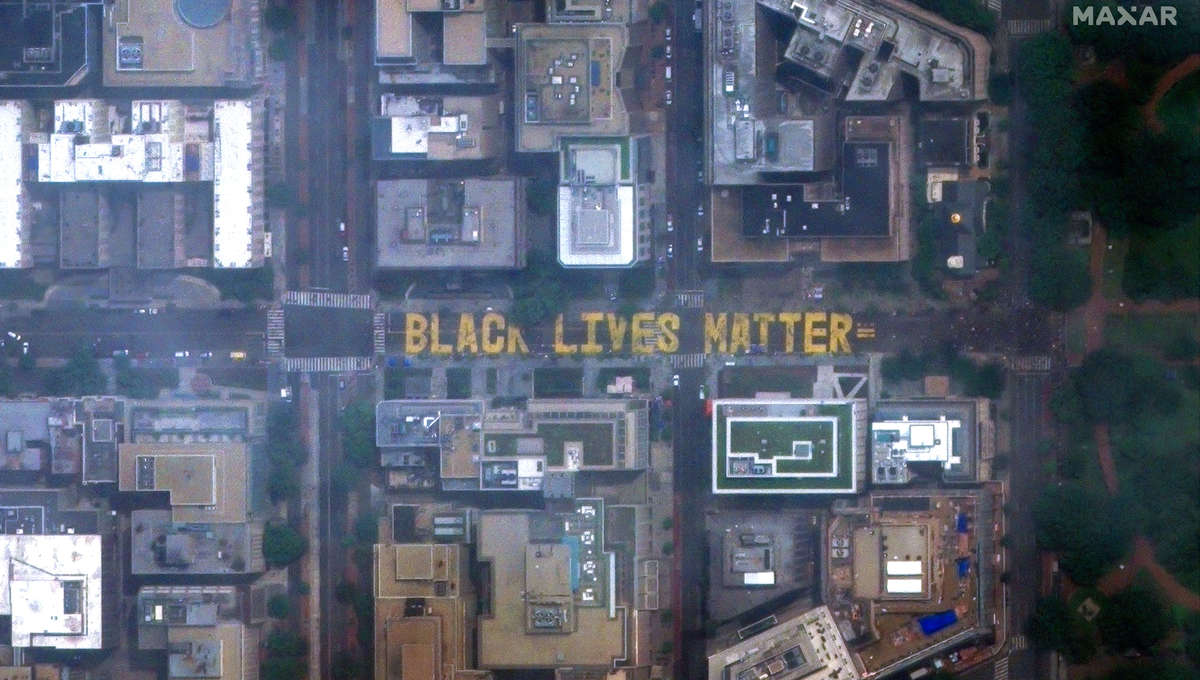 Black Lives Matter mural getty