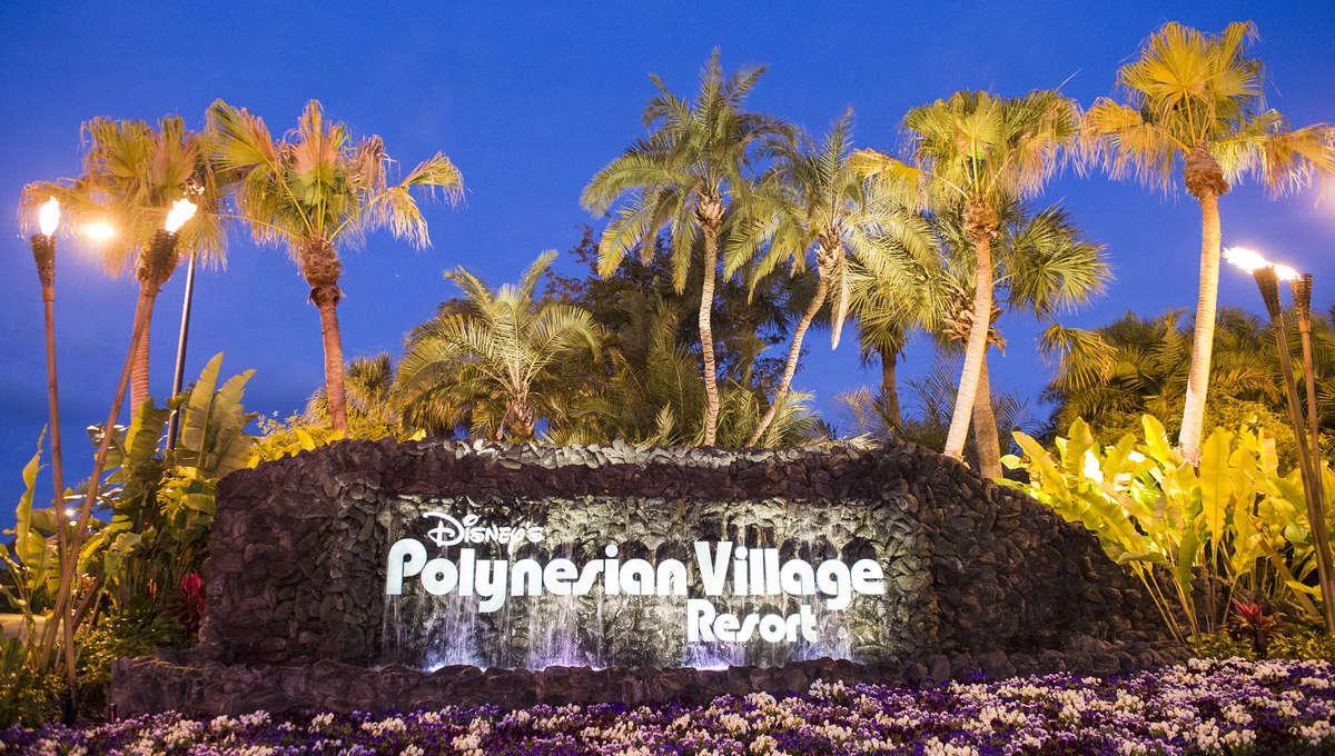 Disney's Polynesian Village Resort Sign at Walt Disney World