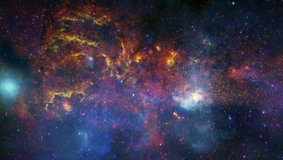 The center of the Milky Way as viewed from the Hubble telescope