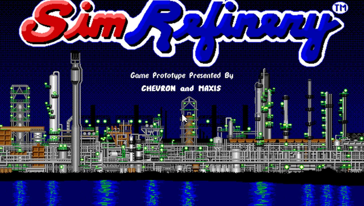 SimRefinery game opening screen