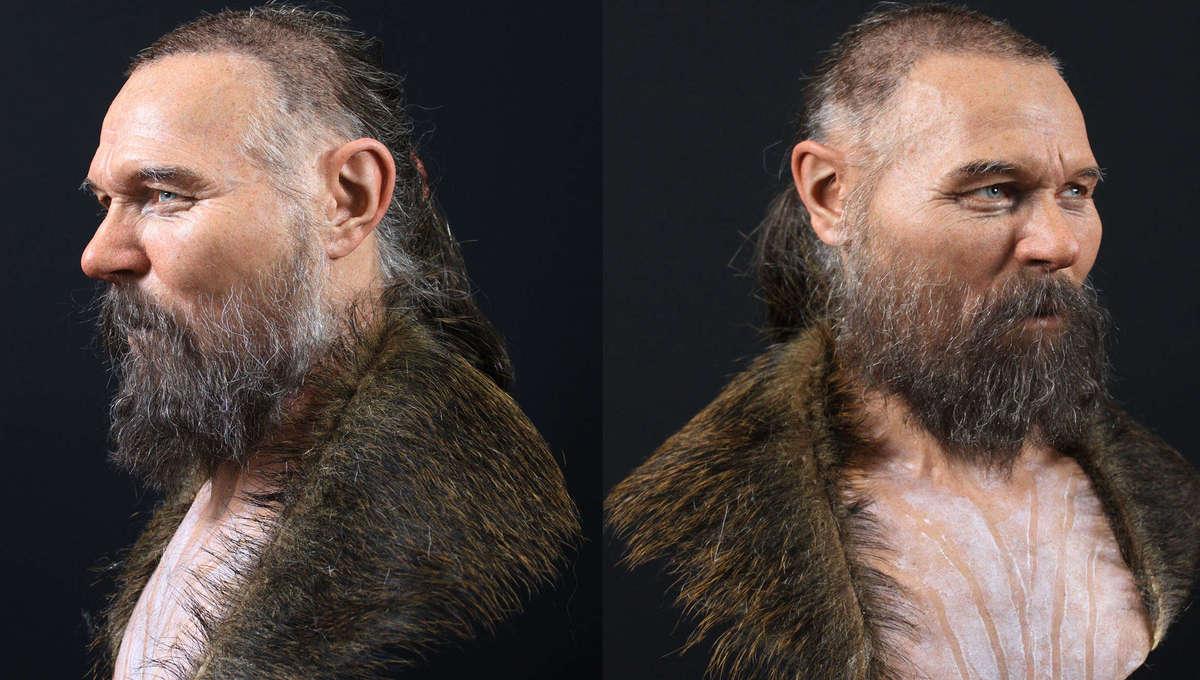 facial reconstruction of a Mesolithic man