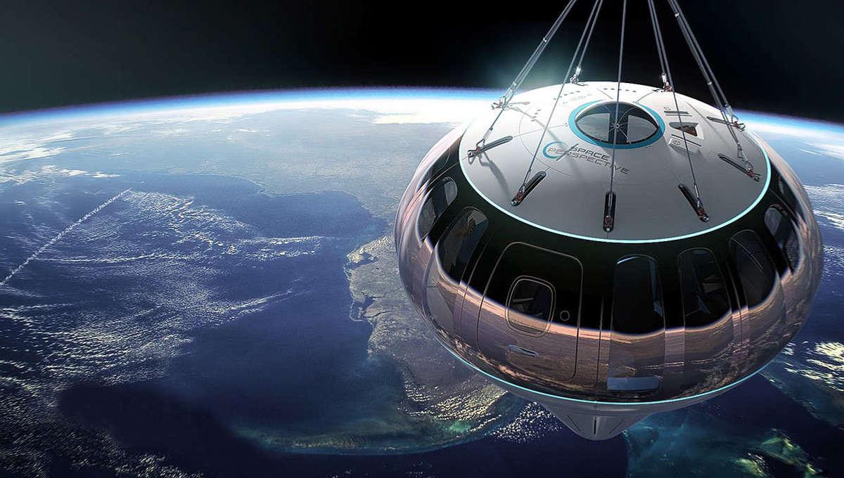 Artist rendering of Space Perspective Neptune balloon capsule