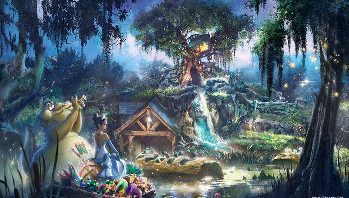 The Princess and the Frog Splash Mountain artwork