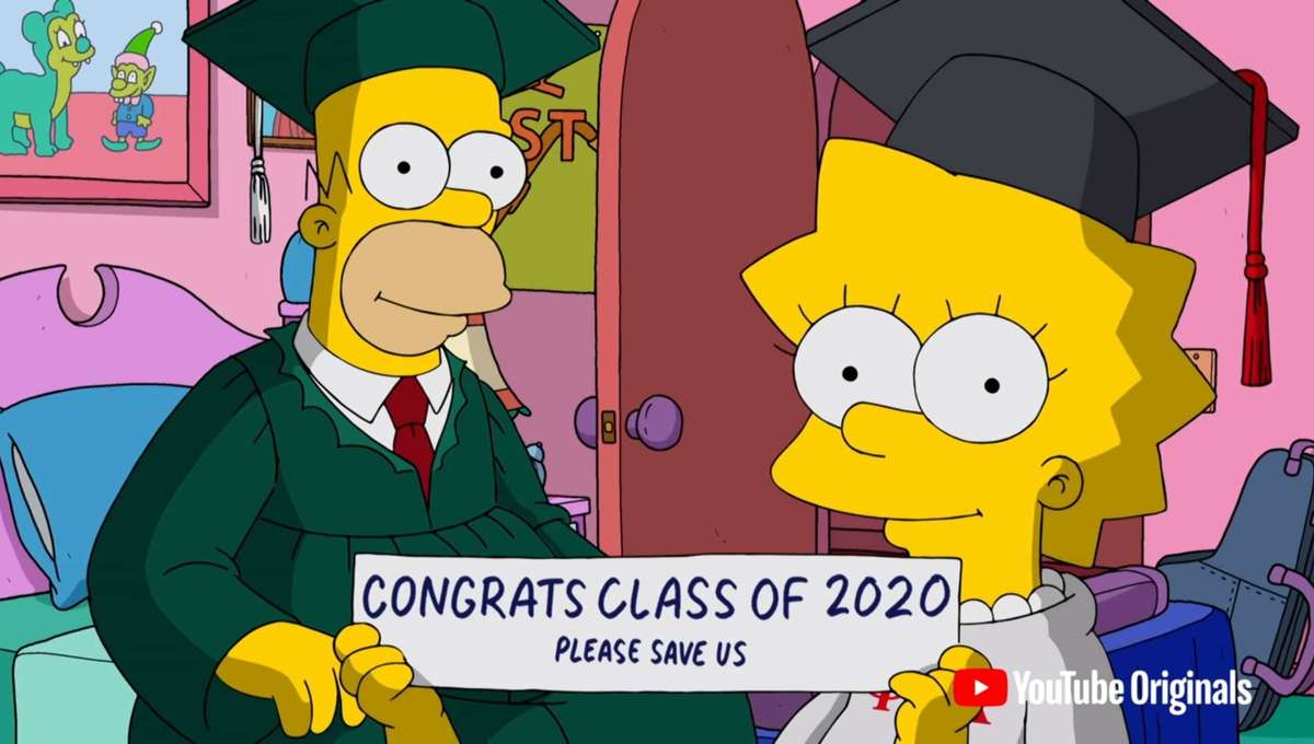 The Simpsons graduate address